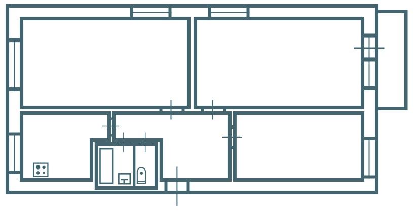 3-х комнатная брежневка ромашка