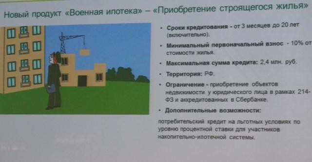 Военная ипотека Сбербанка в 2014