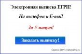 Сервис заказа электронной выписки из ЕГРП Онлайн