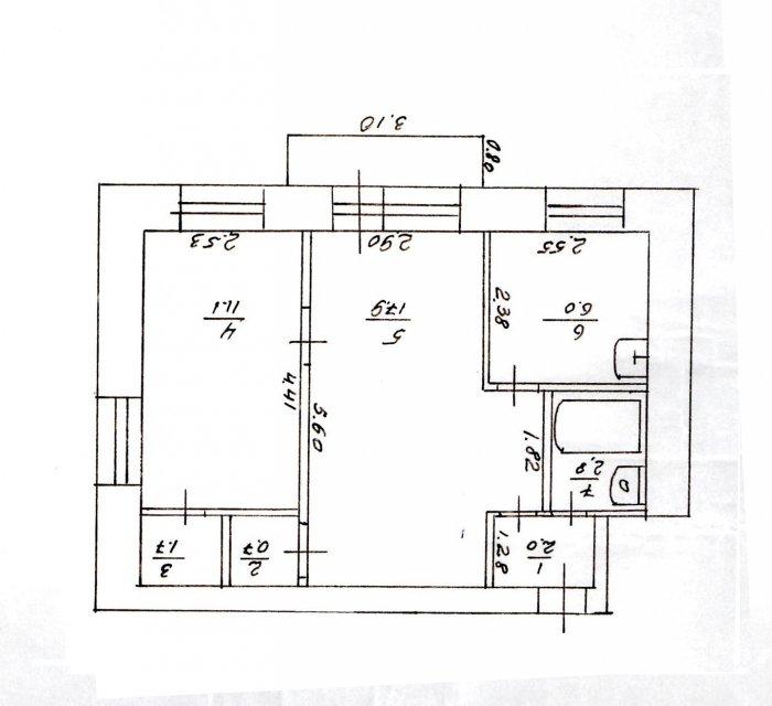 Первоначальный план квартиры
