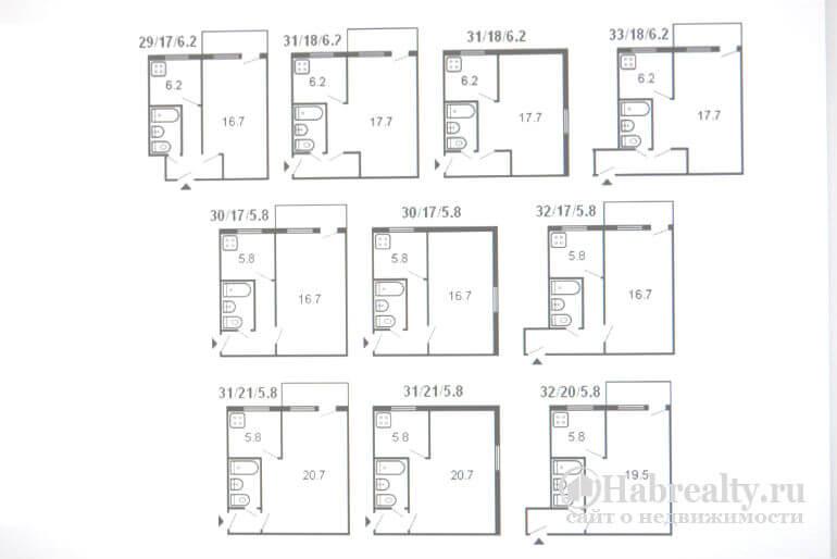 1-комнатная хрущевка план