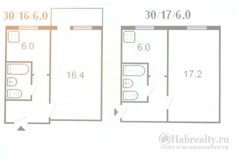 1 комнатная брежневская планировка