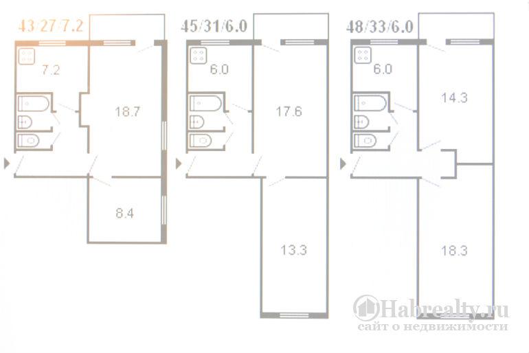 2 комнатная брежневская квартира план