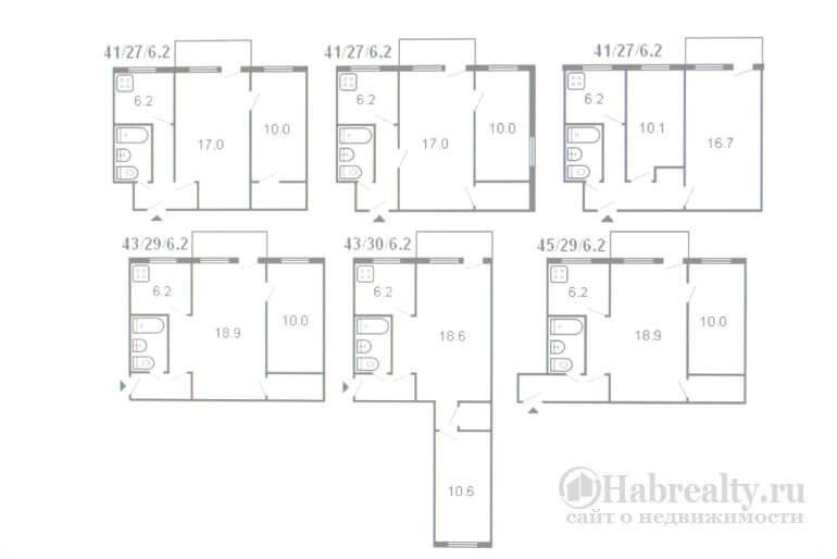2-комнатная схема квартиры