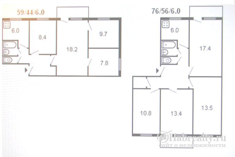брежневская 4 комнатная схема