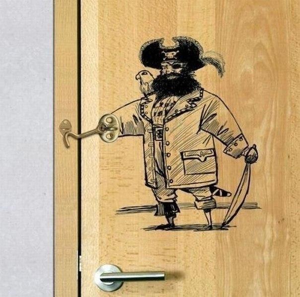 юмор строительный квартира дверь крючок