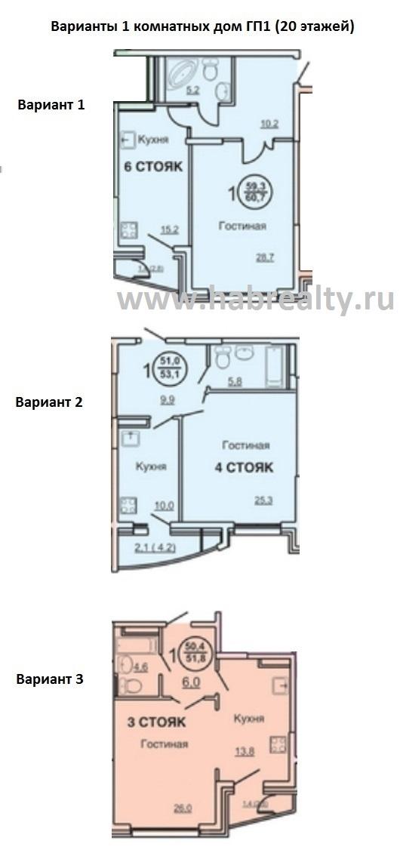 жилой комплекс амурские зори на кавказской планировка 1 комнатная