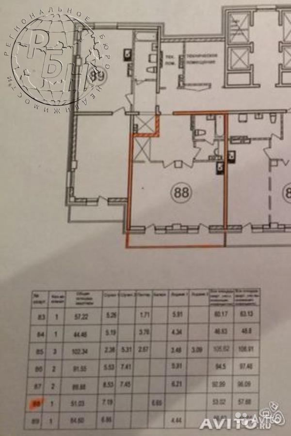 планировка жк Созвездие 1-комнаная 60 м середина