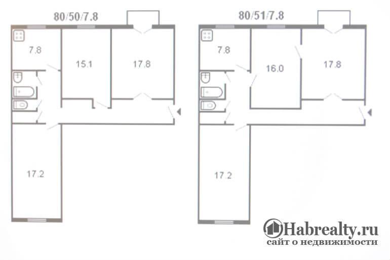 Сталинка 3 х комнатная квартира планировка фото