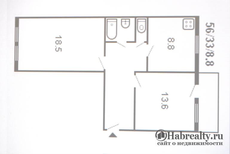фото Планировка квартиры сталинка 2 комнаты
