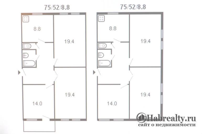 Планировка сталинки 3 комнаты фото