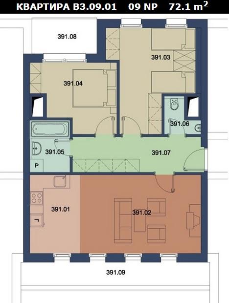 план квартиры Чехия