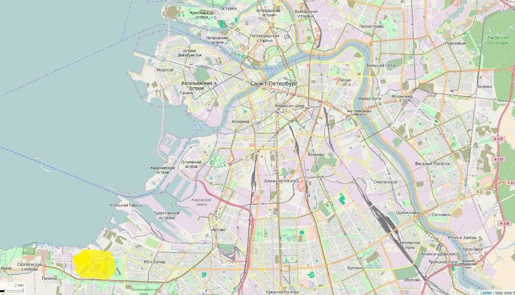 Балтийская жемчужина на карте