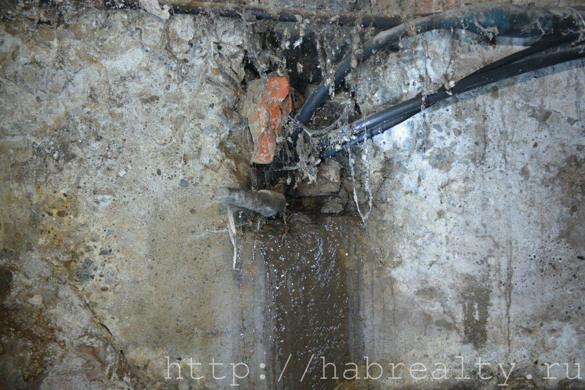 вода в подвале УК Сервис-Центр Хабаровск