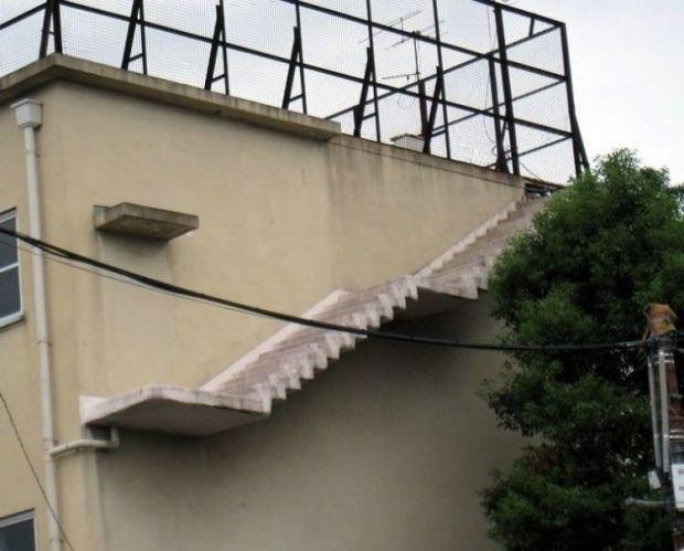 лестница небо здание смешно