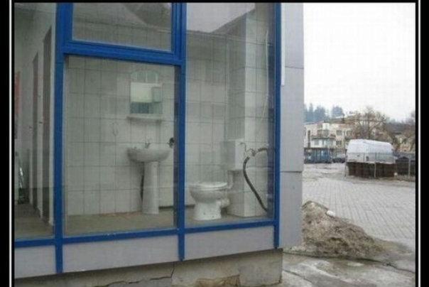 стекло прозрачное туалет улица юмор