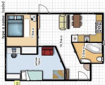 перепланировка хрущевки с просторной спальней
