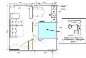перепланировки 1-комнатной квартиры
