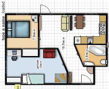 перепланировка 2 х комнатной хрущевки