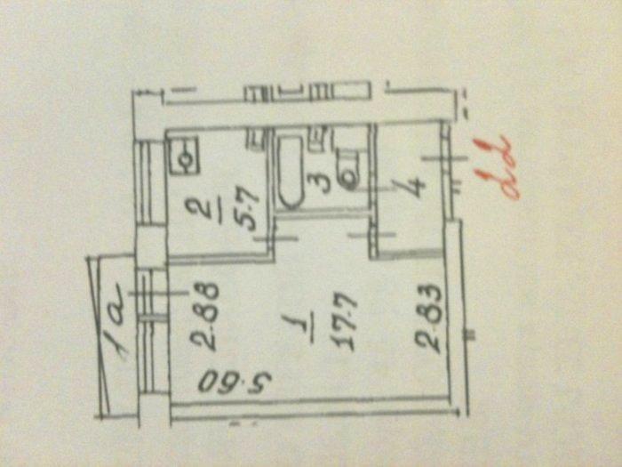 планировка 1-комнатной квартиры хрущевка фото